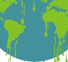global warming tshirt Sticker