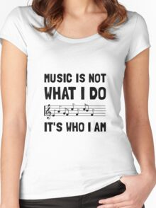 Music Who I Am Women's Fitted Scoop T-Shirt