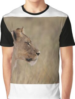 Lioness isolated fro back ground Graphic T-Shirt