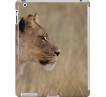 Lioness isolated fro back ground iPad Case/Skin