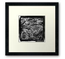 Wood Ink  Framed Print