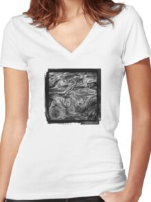 Wood Ink  Women's Fitted V-Neck T-Shirt