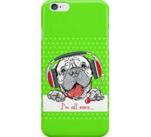 Dog Bullmastiff as customer service iPhone Case/Skin