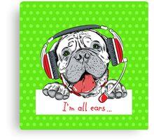 Dog Bullmastiff as customer service Canvas Print