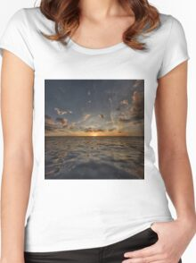 Fantasy Sunset 3 Women's Fitted Scoop T-Shirt