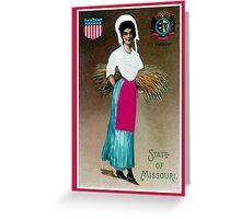 Vintage State Girl of Missouri Greeting Card