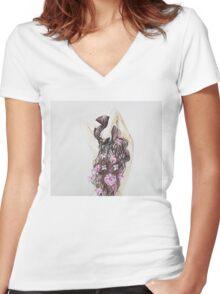 Spring girl Women's Fitted V-Neck T-Shirt