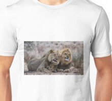 Two lion brothers with expressions Unisex T-Shirt