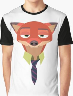 Fox Minialist Graphic T-Shirt
