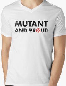 Mutant and proud - black Mens V-Neck T-Shirt