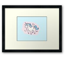 Unicorn Scatter Pattern Framed Print