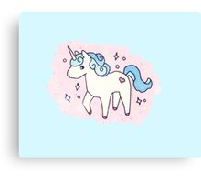 Unicorn Scatter Pattern Canvas Print