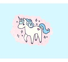 Unicorn Scatter Pattern Photographic Print