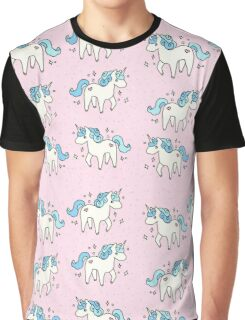 Unicorn Scatter Pattern Graphic T-Shirt