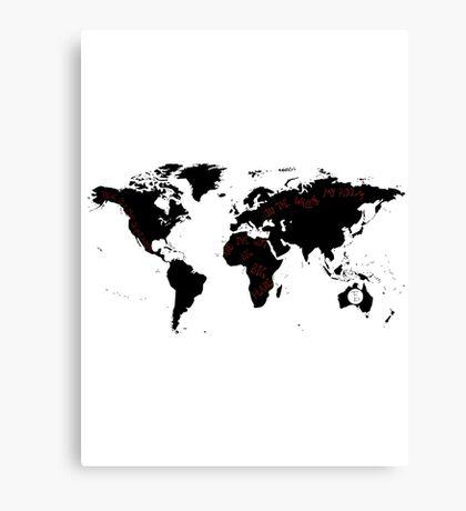 TFB Maps Canvas Print