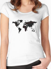 TFB Maps Women's Fitted Scoop T-Shirt