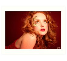 red lioness Art Print