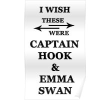 I wish these were Captain Hood and Emma Swan Poster