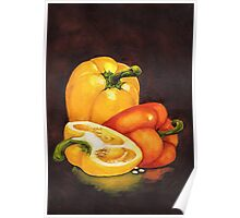 Shelley's Bell Peppers Poster
