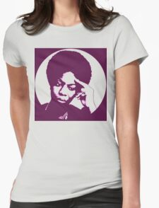 Nina simone - best african singer Womens Fitted T-Shirt