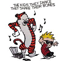 Calvin And Hobbes Dance Photographic Print