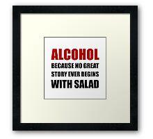 Alcohol Salad Framed Print