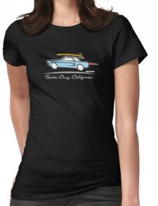 Ford Mustang Gone Surfing in Santa Cruz California Womens Fitted T-Shirt