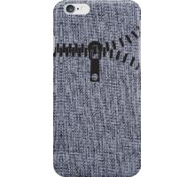 whool fabric texture knit zipper gray design legging  iPhone Case/Skin