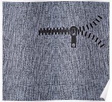whool fabric texture knit zipper gray design legging  Poster