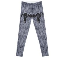 whool fabric texture knit zipper gray design legging  Leggings