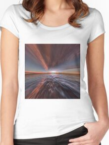 Fantasy Sunset 7 Women's Fitted Scoop T-Shirt