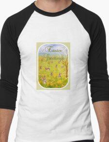 Easter Greetings Men's Baseball ¾ T-Shirt