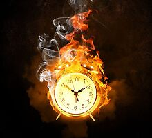 ~ Burning Clock ~ by Alexandra  Lexx