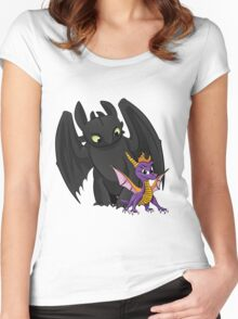 Spyro and Toothless Women's Fitted Scoop T-Shirt