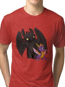Spyro and Toothless Tri-blend T-Shirt