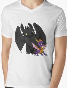 Spyro and Toothless Mens V-Neck T-Shirt