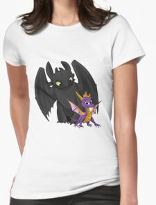 Spyro and Toothless Womens Fitted T-Shirt