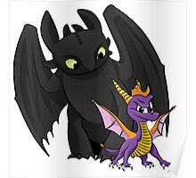 Spyro and Toothless Poster