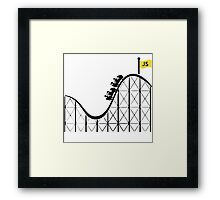 Javascript roller coaster Framed Print