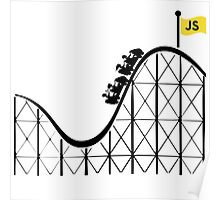Javascript roller coaster Poster