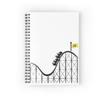 Javascript roller coaster Spiral Notebook