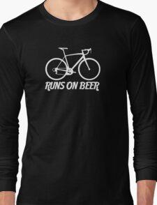 Runs on Beer - Road Bike Long Sleeve T-Shirt