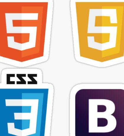HTML - CSS - JS - Bootstrap Sticker