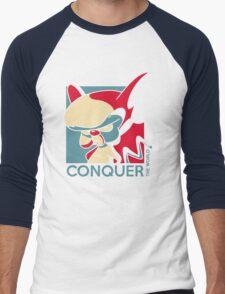 Conquer the World! Men's Baseball ¾ T-Shirt