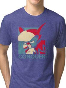 Conquer the World! Tri-blend T-Shirt
