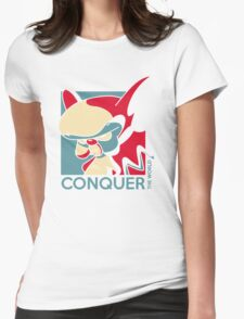 Conquer the World! Womens Fitted T-Shirt