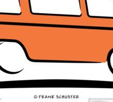 Orange Vanagon Caravelle Bulli Bus Gone Surfing  Sticker