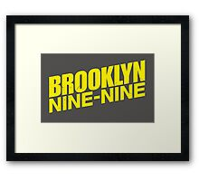 Brooklyn nine nine - tv series Framed Print