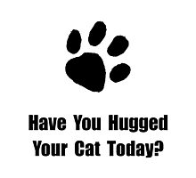 Hugged Cat Photographic Print