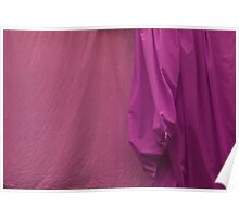 Two Sheets Abstract Salmon & Fuscia Poster